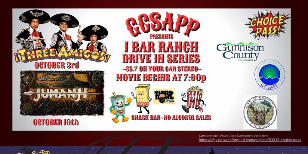 GCSAPP Community Drive In Movie Series  – Three Amigos